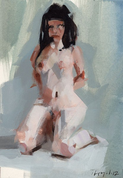 """Nude Figure 3 - Quick Study"" original fine art by David Lloyd"