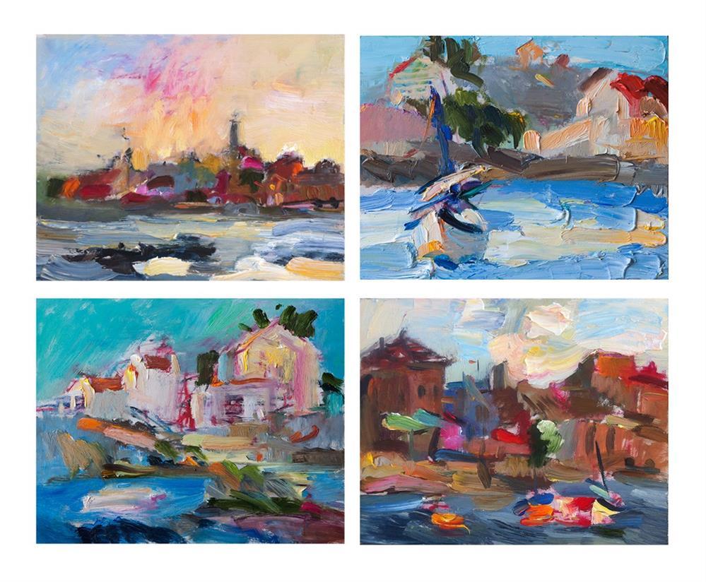 """""""Plein Air Seascape Paintings"""" original fine art by Anna  Fine Art"""