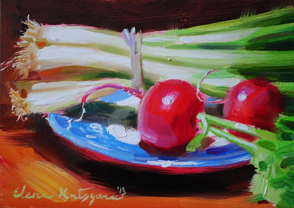 """Red and Green"" original fine art by Elena Katsyura"