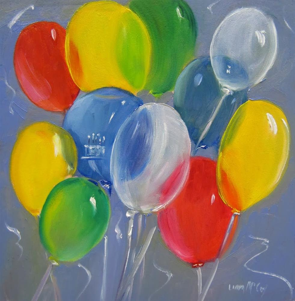 """Balloons ll, Oil painting by Linda McCoy"" original fine art by Linda McCoy"