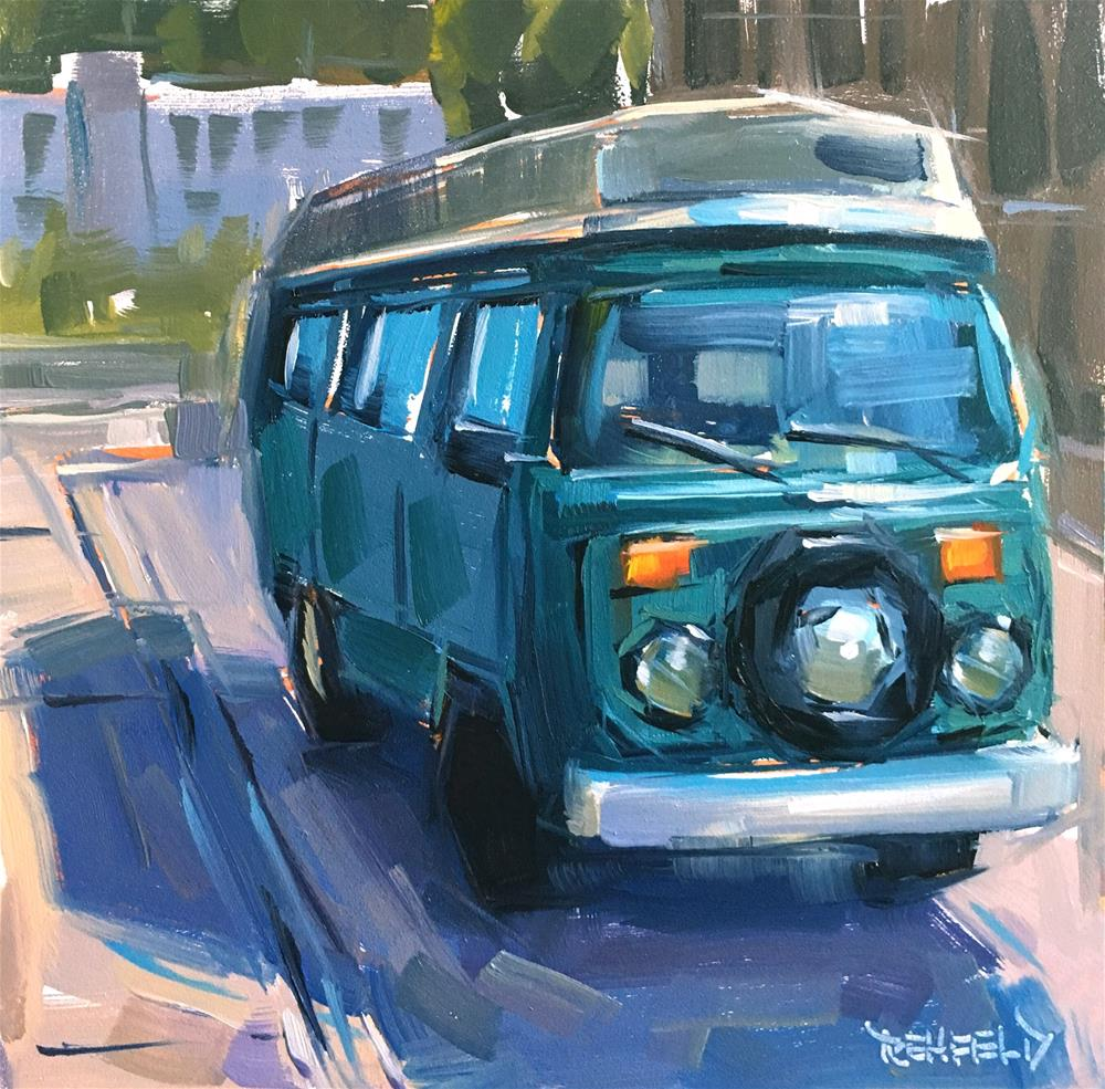 """Vintage VW"" original fine art by Cathleen Rehfeld"