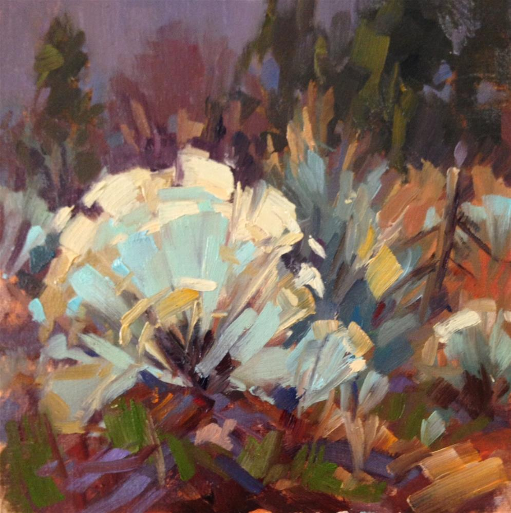 """""""Fences and Sage"""" original fine art by Mary Jabens"""