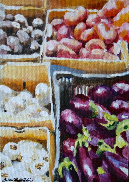 """Summer Veggies"" original fine art by JoAnne Perez Robinson"