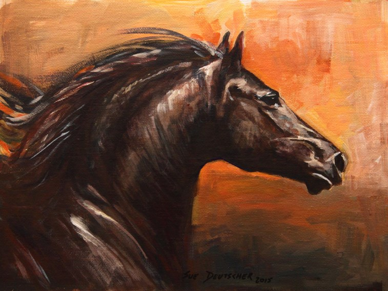 """Horse"" original fine art by Sue Deutscher"
