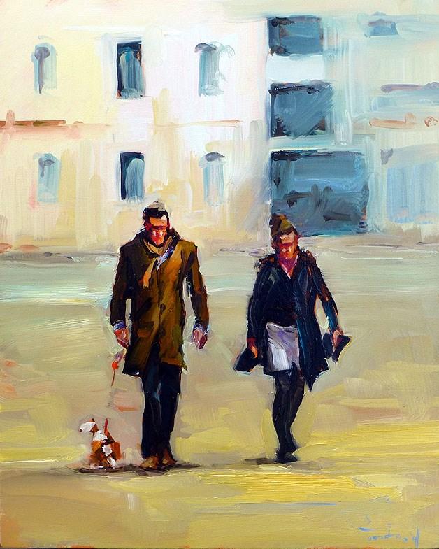"""""""walk"""" original fine art by Jurij Frey"""