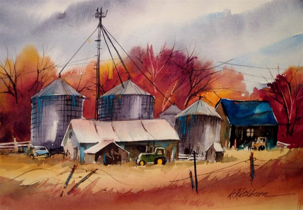 """Season's of Farm Industry"" original fine art by Kathy Los-Rathburn"