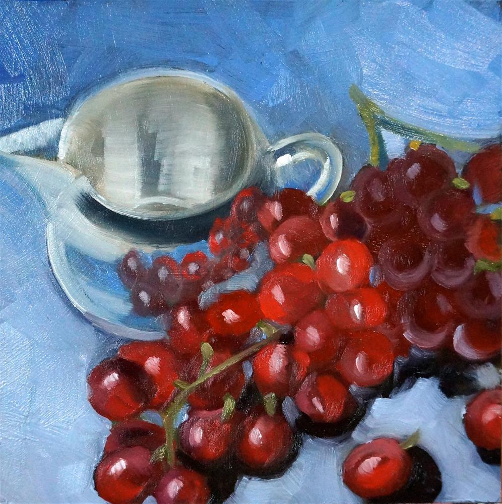 """Grapes and cup"" original fine art by Dipali Rabadiya"