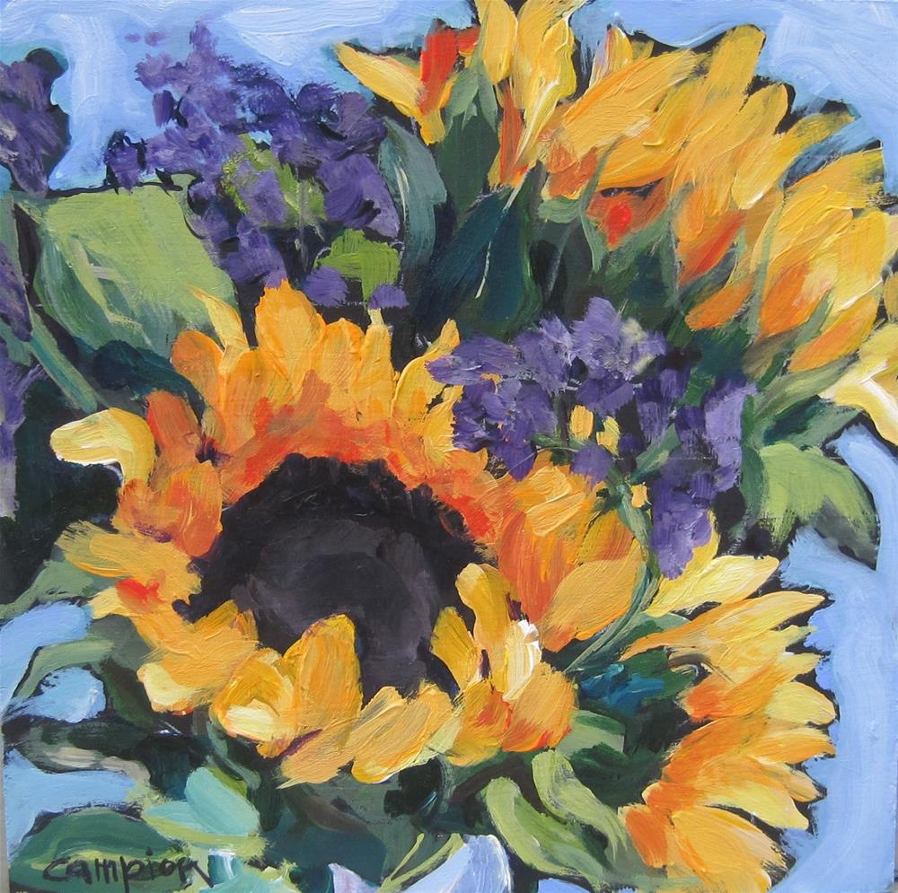 """109.  Market Bouquet, Long Lasting"" original fine art by Diane Campion"