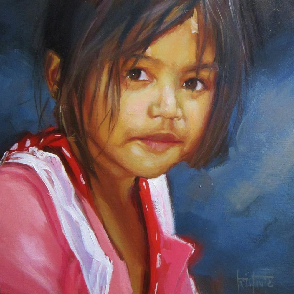 """Bangkok girl"" original fine art by Víctor Tristante"