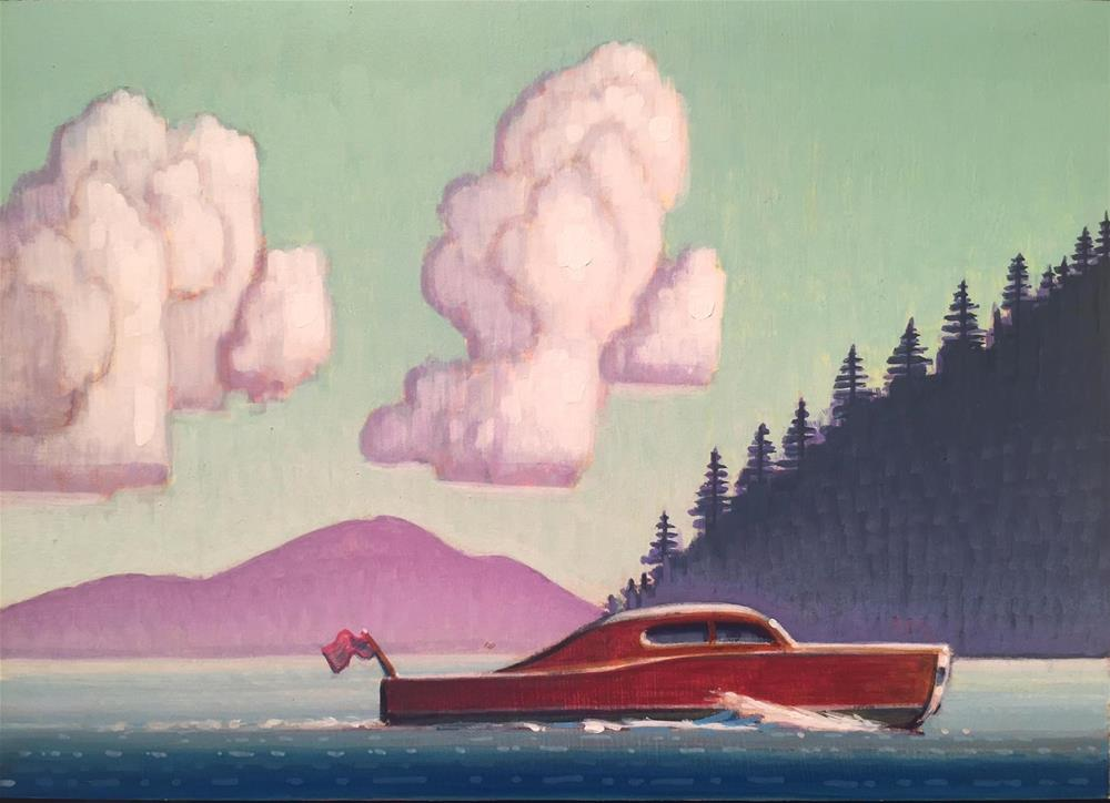 """Lake"" original fine art by Robert LaDuke"