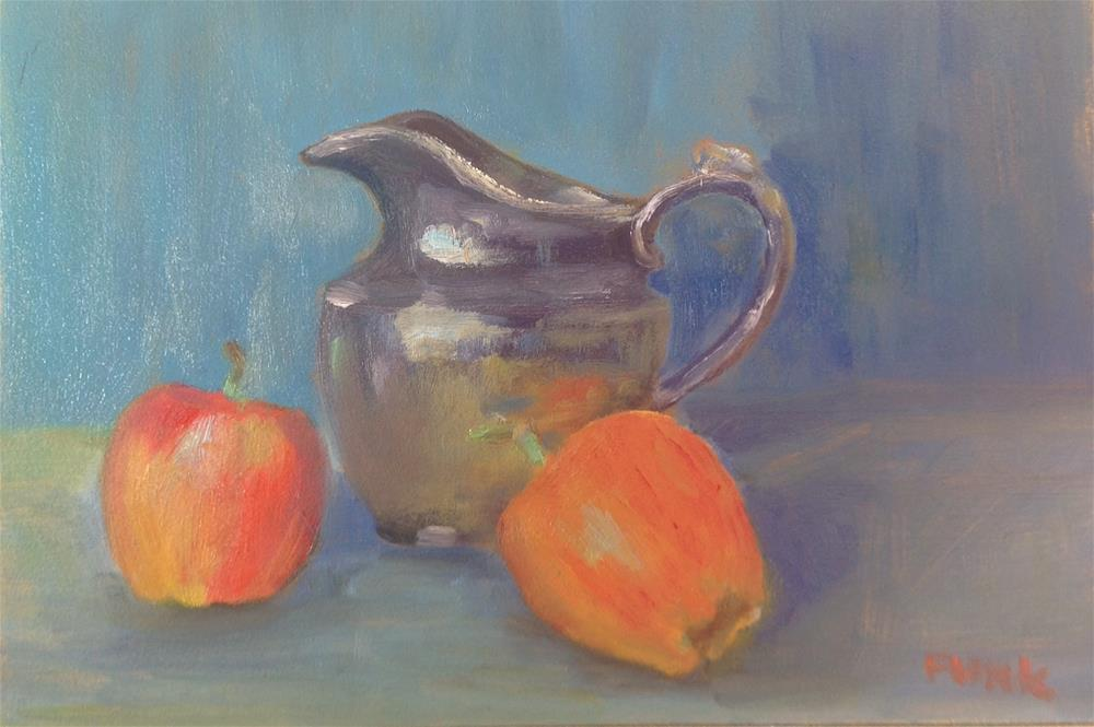 """Grandma's Pitcher with Apples"" original fine art by Lorraine Funk"