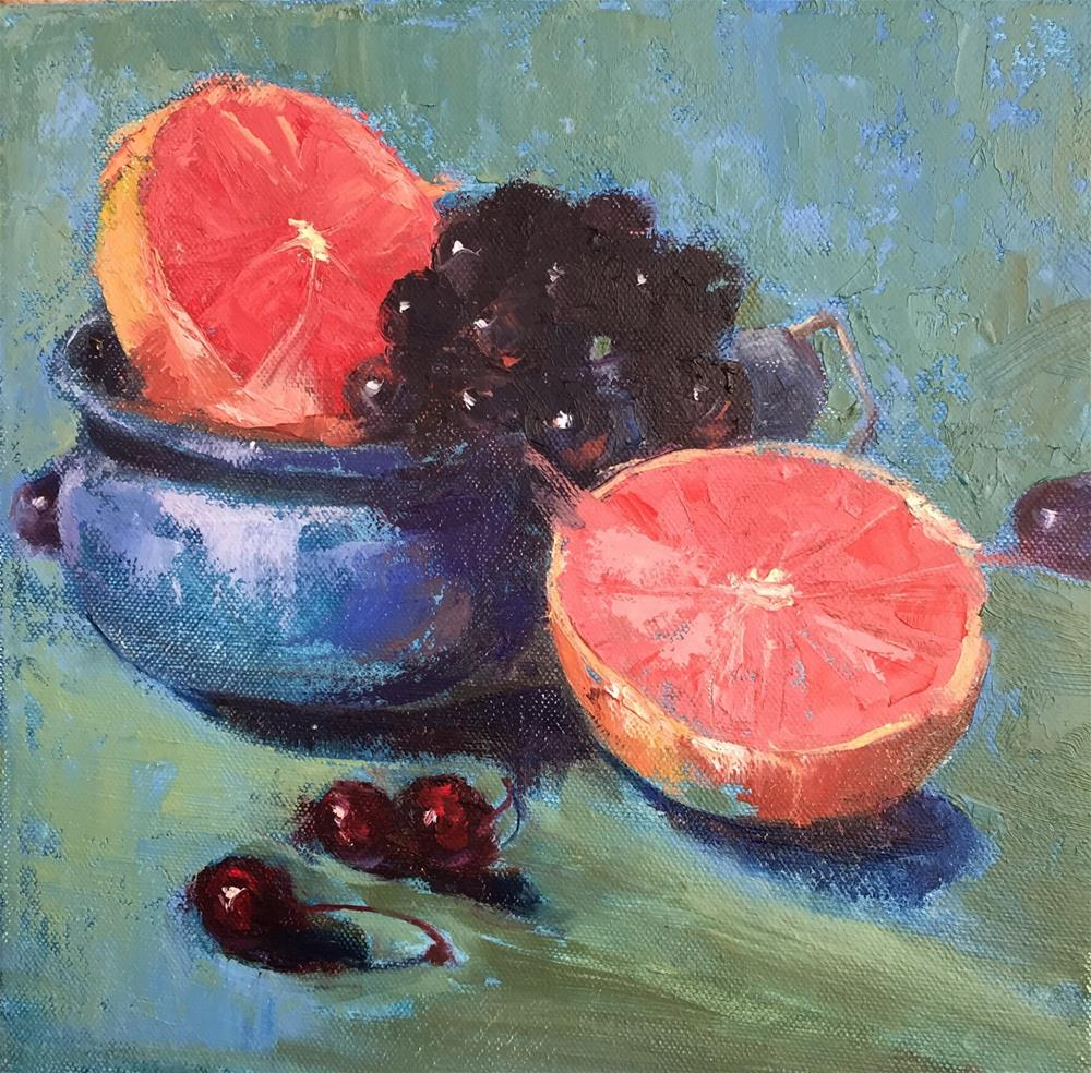 """That's what's for Breakfast"" original fine art by Barbara Fluty"
