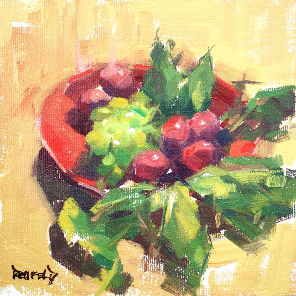 """Harvest Plums"" original fine art by Cathleen Rehfeld"