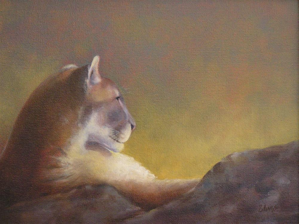 """Cougar"" original fine art by Susanne Billings"