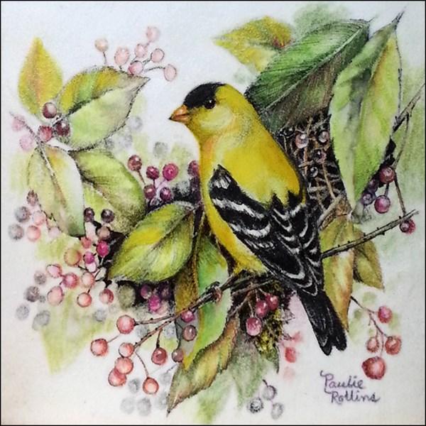 """Glass Berries"" original fine art by Paulie Rollins"