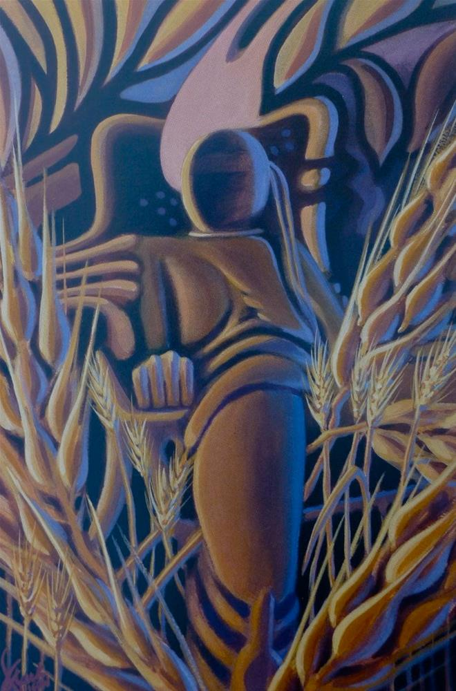 """Virtual Wheat"" original fine art by Mark Allison"