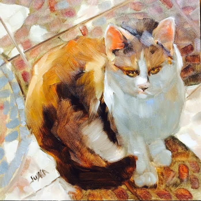 """Tabby"" original fine art by Elaine Juska Joseph"
