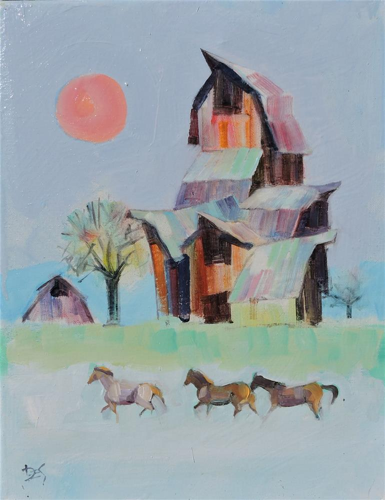 """Barnyard Fantasy"" original fine art by Desmond Serratore"