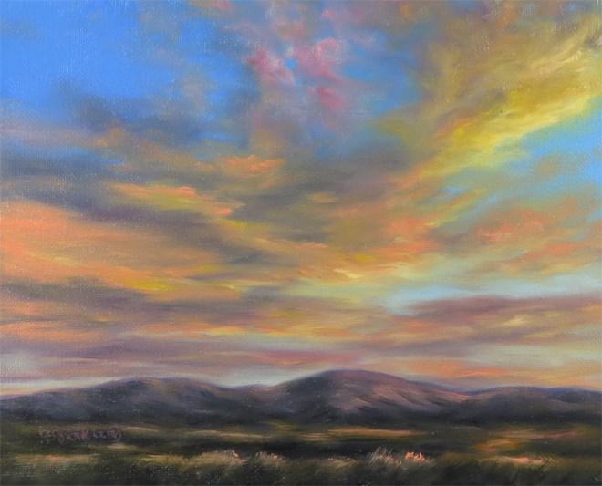 """""""On Golden Wings"""" original fine art by Carol Zirkle"""