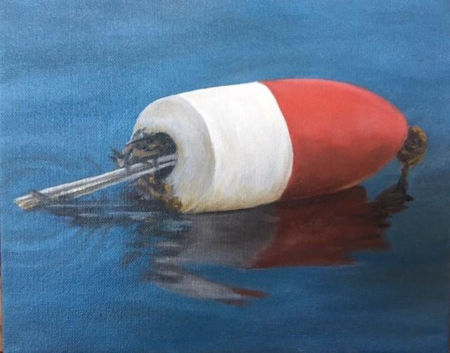 """Billy's Buoy"" original fine art by Karen Collins"