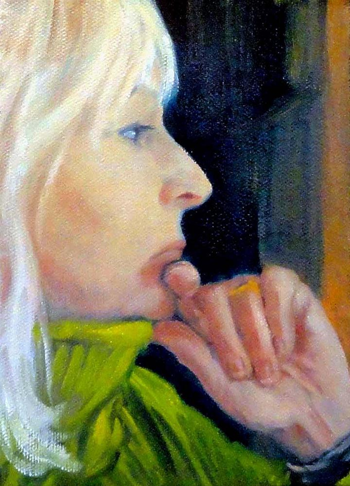 """Pensive Profile"" original fine art by Cietha Wilson"