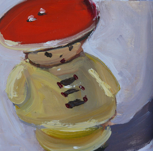 """Salt, oil on canvas board, 6x6"" original fine art by Darlene Young"
