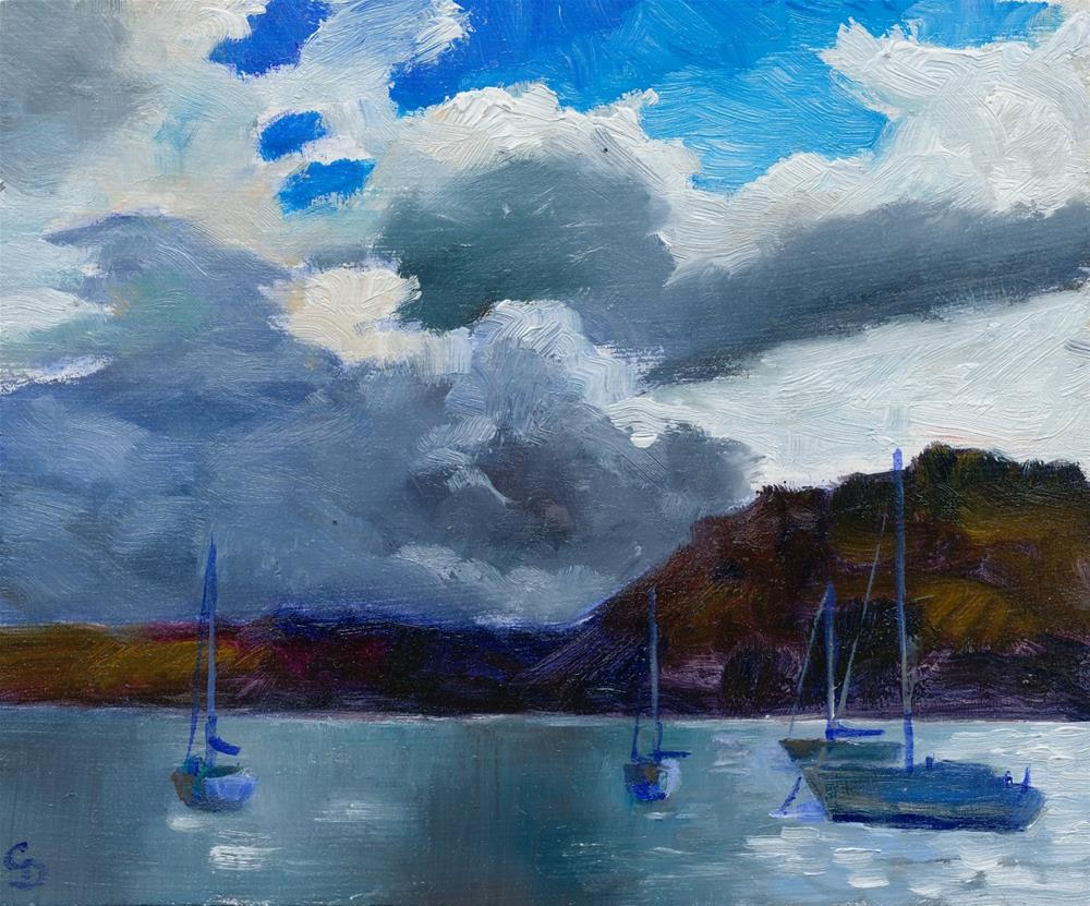 """Edge of the Storm"" original fine art by Christine Derrick"