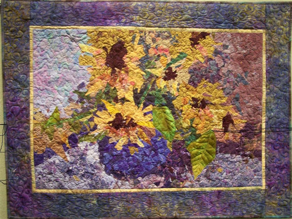 """Sunflowers #2"" original fine art by Joan Reive"