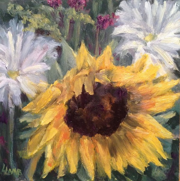 """Late Summer Bouquet"" original fine art by Lori L. Lamb"