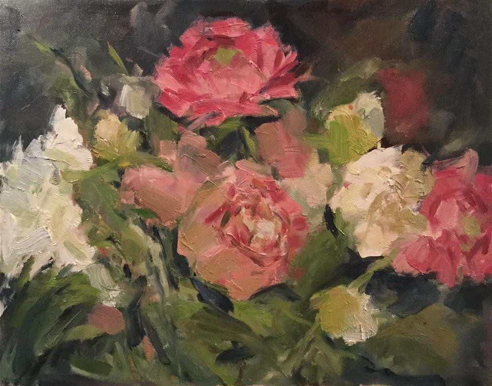 """Peony Bouquet"" original fine art by Barb Walker"