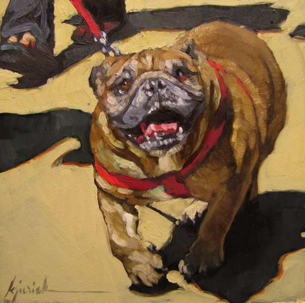 """New York Dog"" original fine art by Karin Jurick"