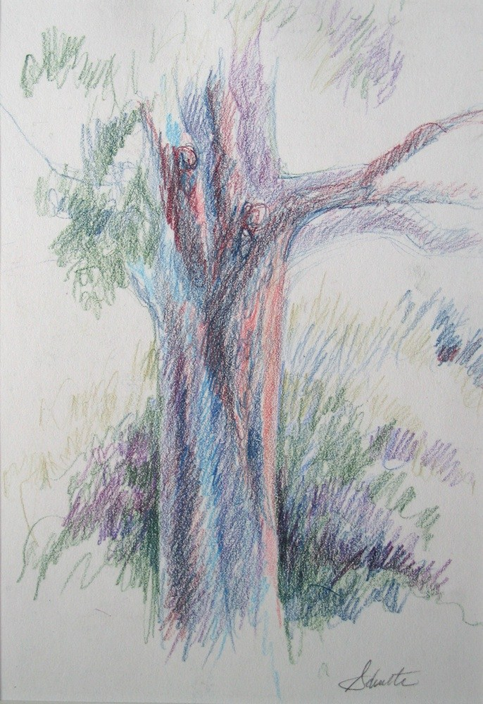 In the Shade original fine art by Lynne Schulte