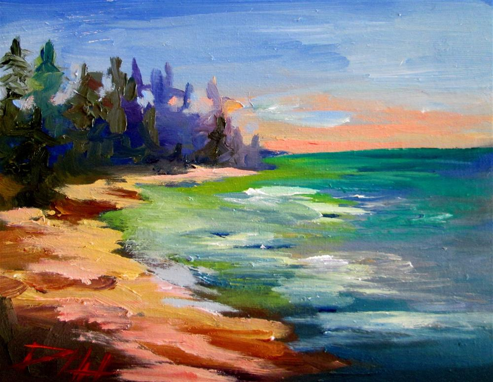 """Lake Shore"" original fine art by Delilah Smith"