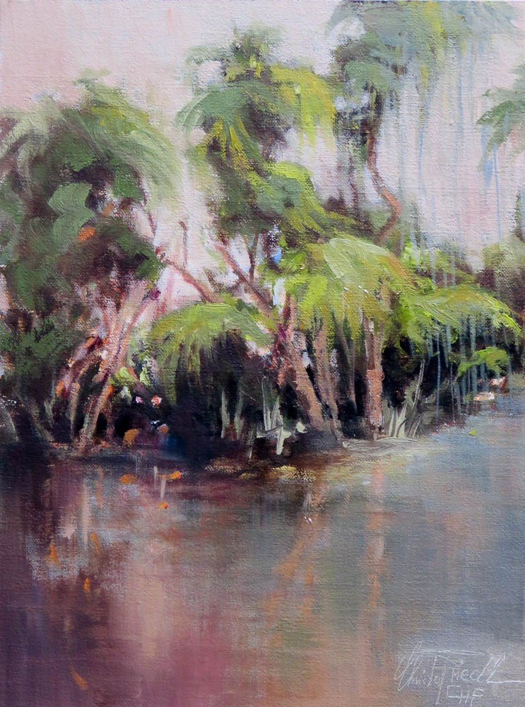 """Shell Creek"" original fine art by Christa Friedl"