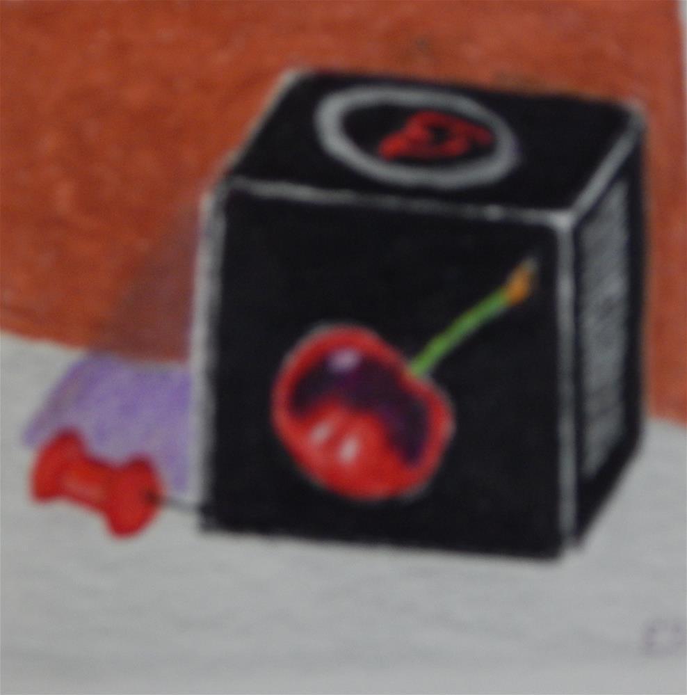 """Italian Chocolate Cordial Cherry"" original fine art by Elaine Shortall"
