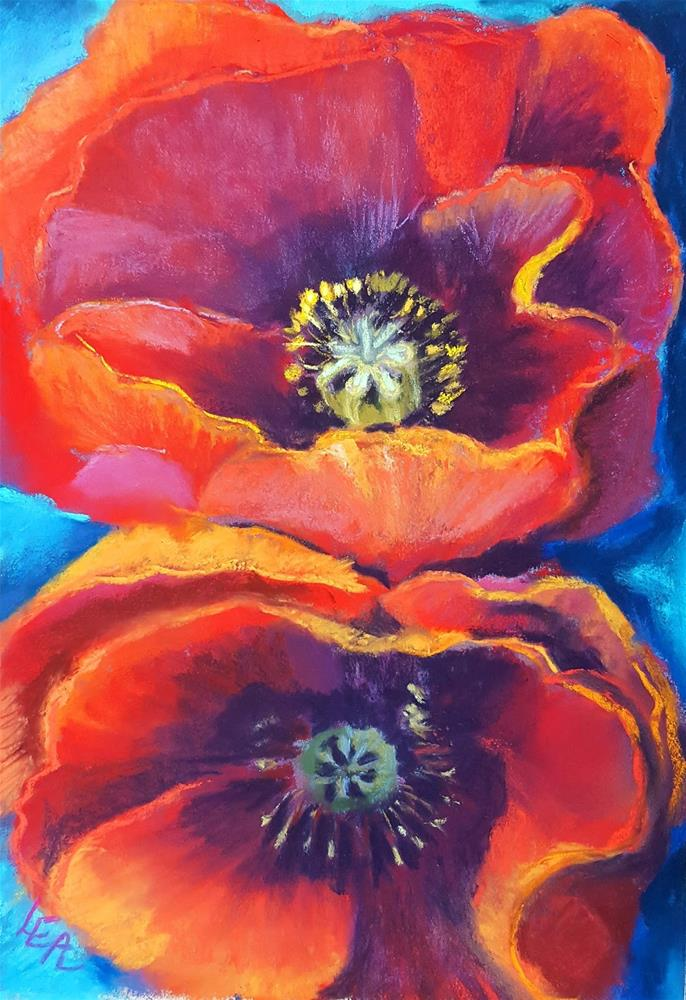 """Poppy Pair"" original fine art by Anna Lisa Leal"