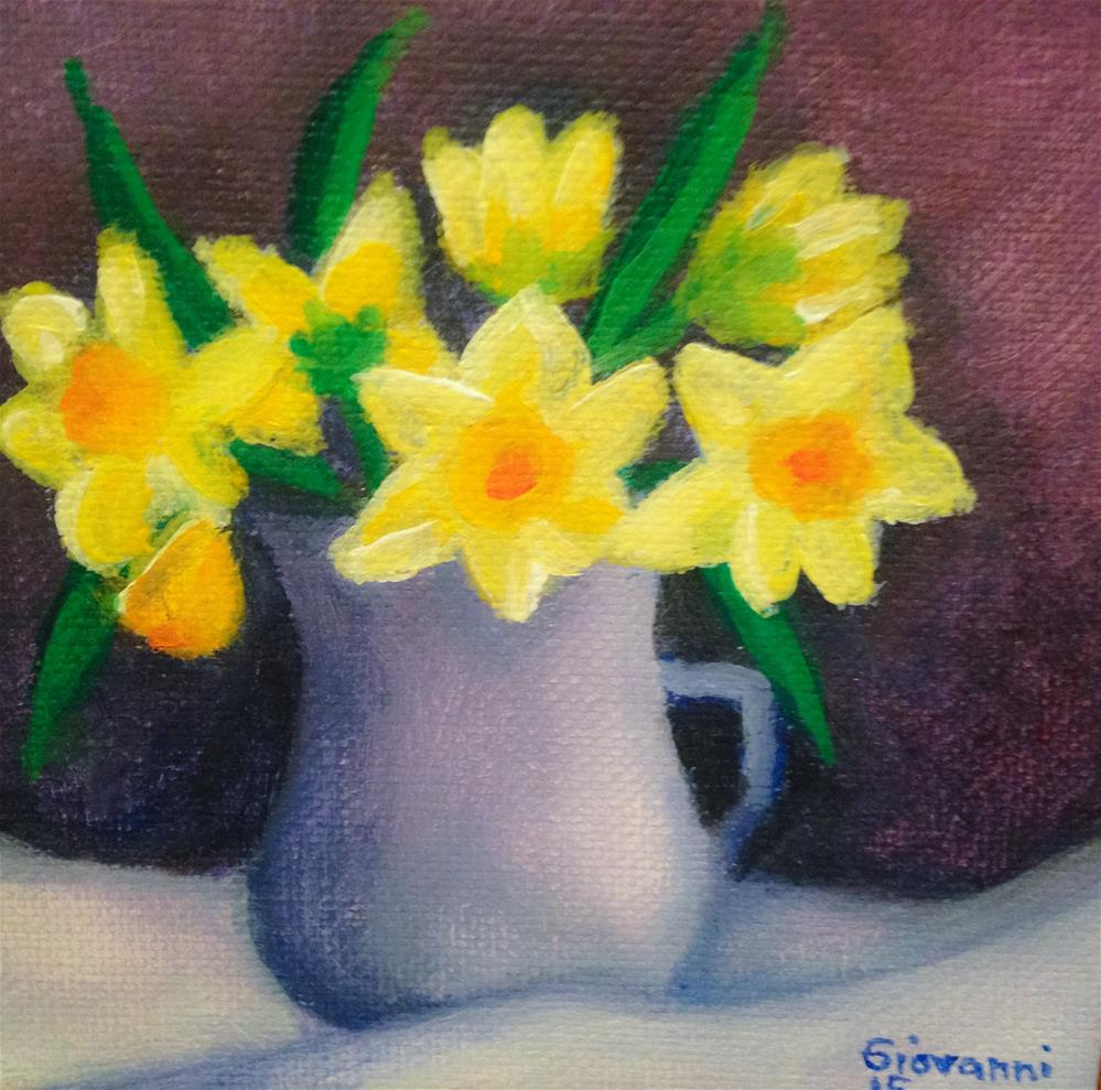 """Daffodils"" original fine art by Giovanni Antunez"
