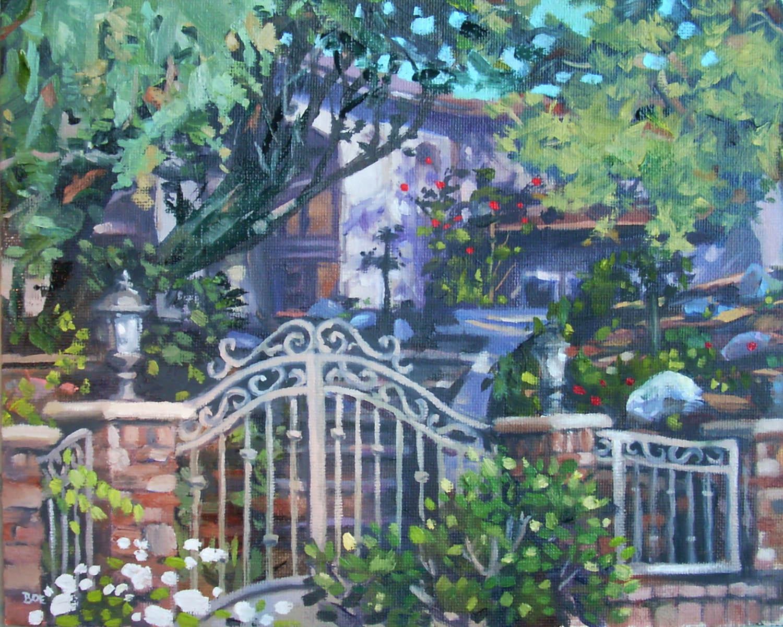 """The Gate Estate"" original fine art by Karen Boe"