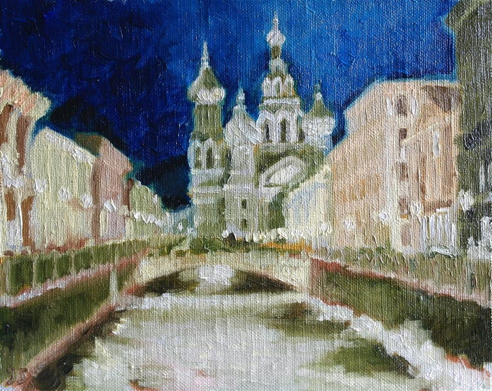 """Cathedral Christ's Resurrection Blood in St.Petersburg"" original fine art by Yuriy Semyonov"