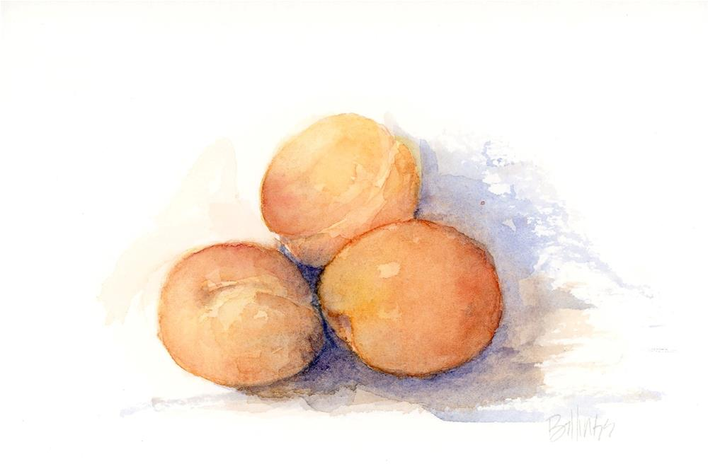 """Apricots I"" original fine art by Susanne Billings"
