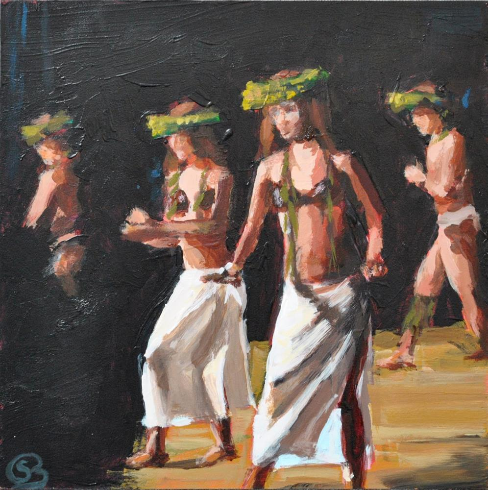 """Hula"" original fine art by Shari Buelt"
