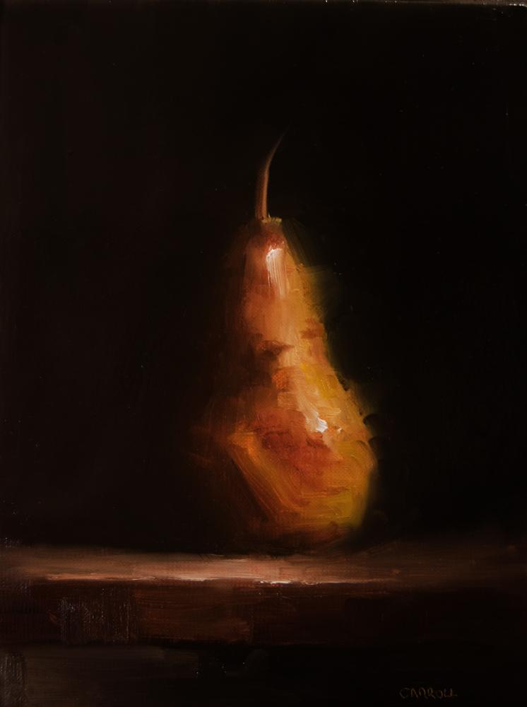 """Pear No6"" original fine art by Neil Carroll"