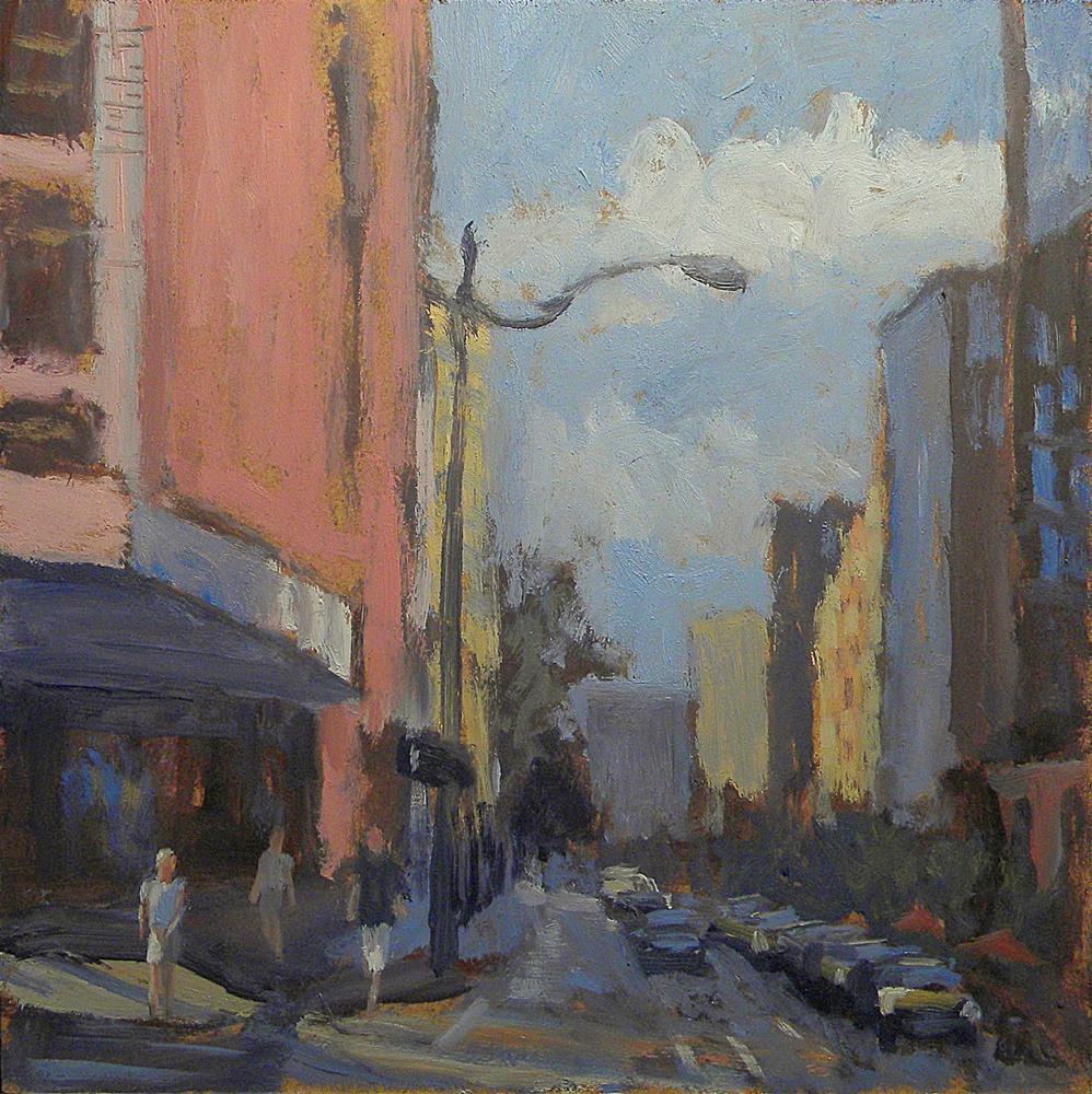 """The Gritty City Challenge Daily Painting Heidi Malott"" original fine art by Heidi Malott"