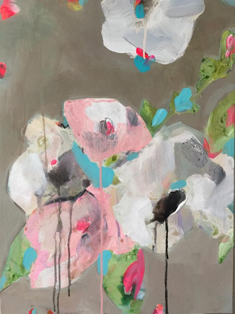 """91 Abstracted Lisianthus"" original fine art by Jenny Doh"