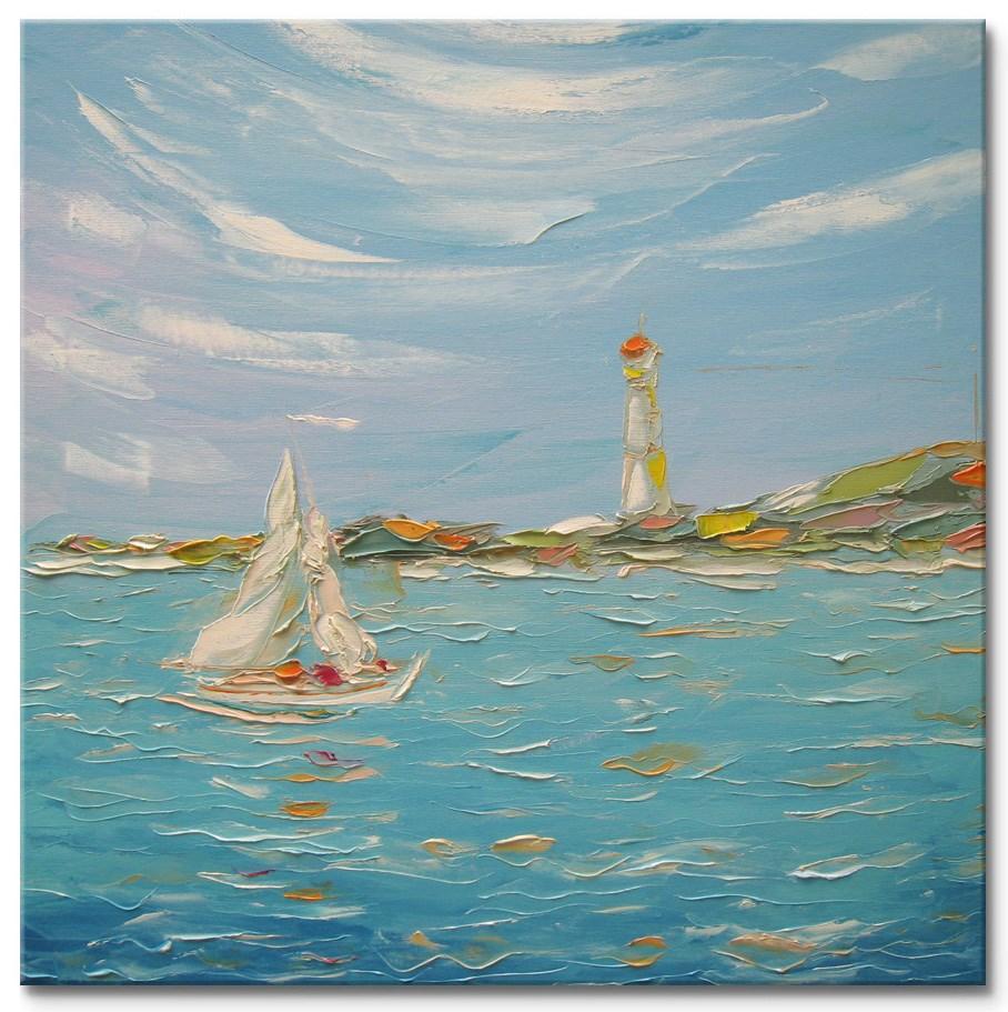 """""""Old lighthouse"""" original fine art by Elena Lunetskaya"""