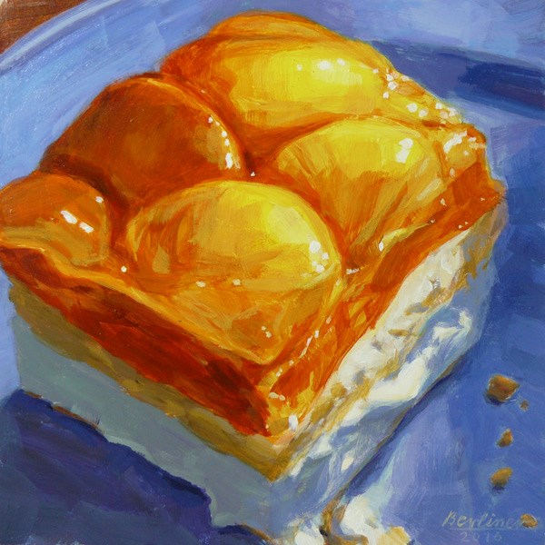 """056 A Mandarin Cake"" original fine art by Anja Berliner"