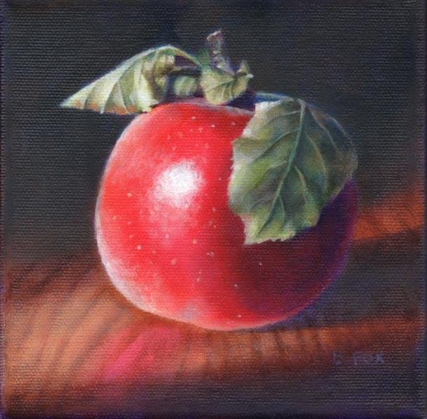 """Apple"" original fine art by Barbara Fox"