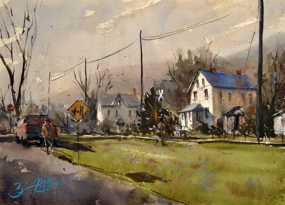 """Unnionville"" original fine art by Brienne M Brown"