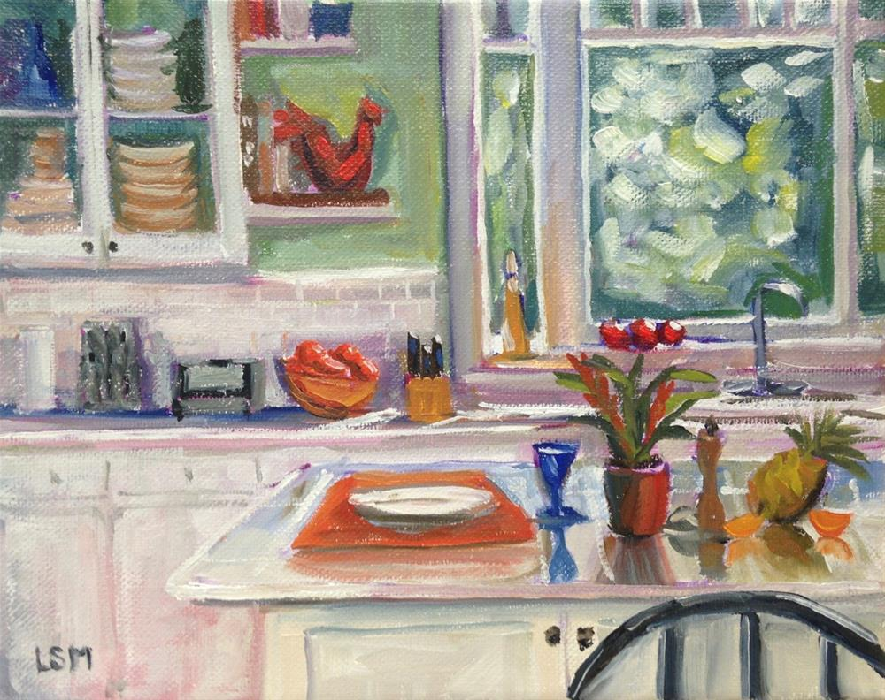 """Kitchen Counter"" original fine art by Linda Marino"