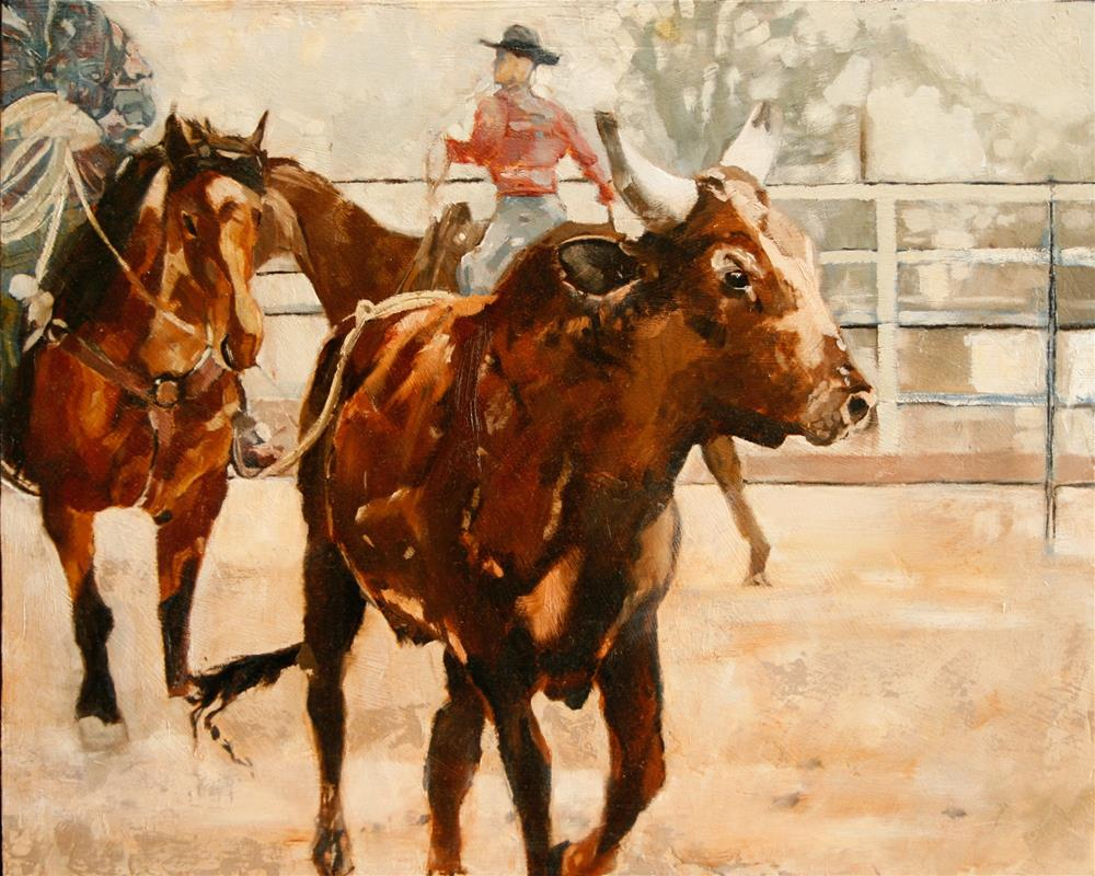 """Nice Try"" original fine art by Leslie Miller"